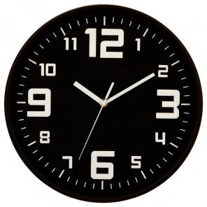 "Horloge ""silence"" noire"