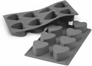 Moule Starflex en Silicone pour 8 mini-coeurs