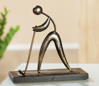 Statue métal golf