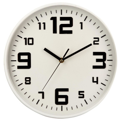 "Horloge ""silence"" blanche"
