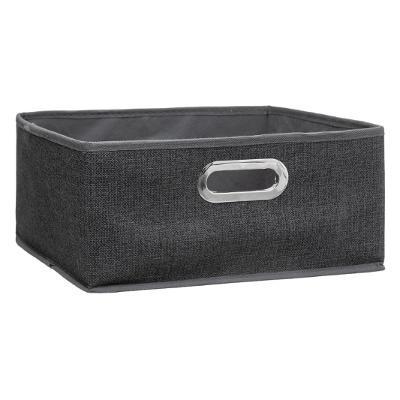 Boîte de rangement gris chiné