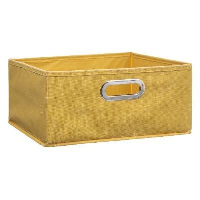 Boîte rangement jaune