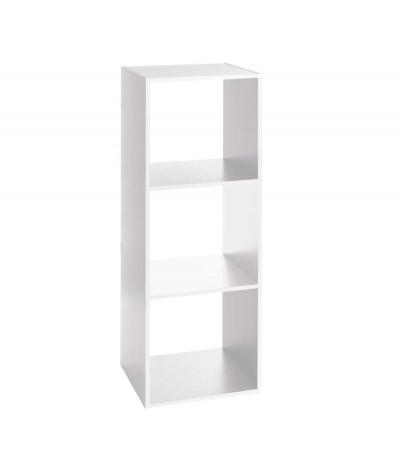 Etagère 3 grandes cases  L 34,4 x P 32 x H 100,5 cm - Bois – Blanc
