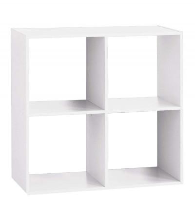Etagère 4 cases blanc