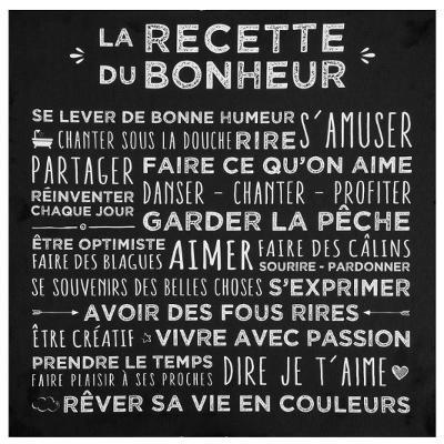 """Toile """"Recette du bonheur"""""""