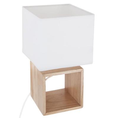 Lampe en bois carrée