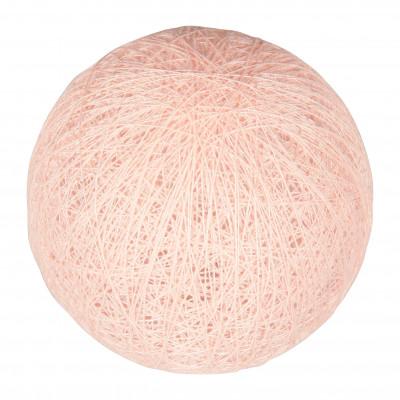 Boule tissu rose