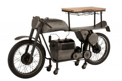 Bar motocyclette en Métal et Bois de Manguier L 200 x H 100 x P 43 cm - 49 Kg