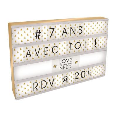 Boîte lumineuse à message 42x30 cm