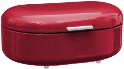 Boîte à pain métal rouge