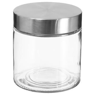 Bocal en verre+ Inox 0,75L, D 11 x H 12 cm, Conservation des aliments