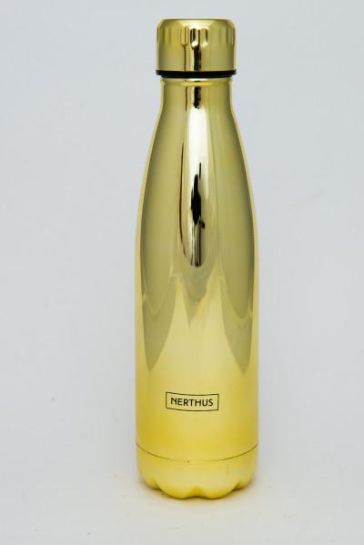 Bouteille isotherme METAL OR à double paroi, 500 ml, Gourde en acier inoxydable - Garde Froid 8h ou Chaud 12h - Sans BPA