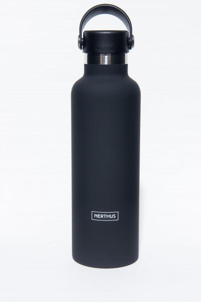 Bouteille isotherme NOIRE, Sport, à double paroi, 750 ml, Gourde en acier inoxydable - Garde Froid 8h ou Chaud 12h - Sans BPA