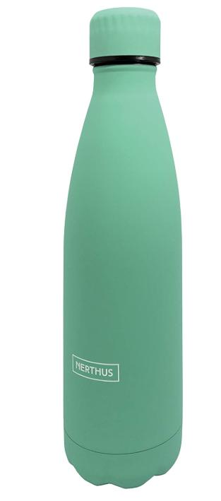 Bouteille isotherme turquoise à double paroi, 350 ml, Gourde en acier inoxydable - Garde Froid 8h ou Chaud 12h - Sans BPA