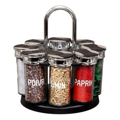 Carrousel à épices 8 pots avec couvercle