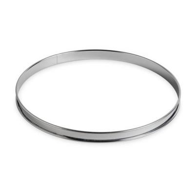 Cercle à tarte inox bords roulés Ø24cm h2,7cm