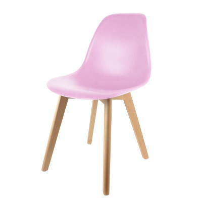 Chaise scandinave coque rose