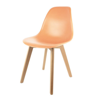 Chaise scandinave coque orange pastel