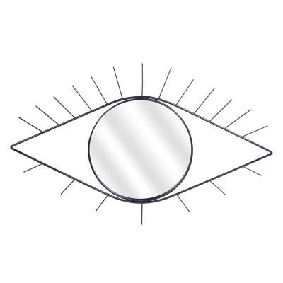 Miroir en forme d'œil noir 35 x 55 cm
