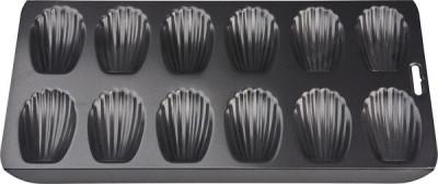 Moule à Madeleines Antiadhésif 12 Cavités - Acier noir 40 x 19 cm, Patisse