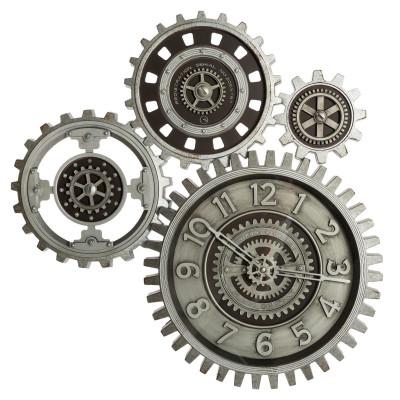 """Pendule mécanique """"Engrenages""""  mobiles, 57 x 58 cm"""