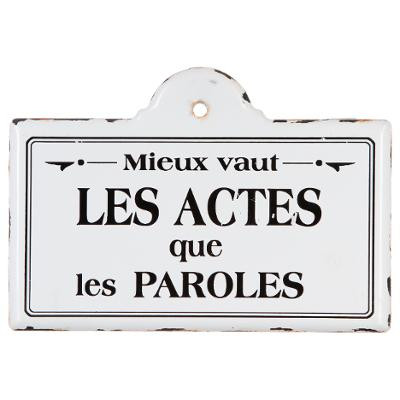 Plaque métal Citation 25 x 18