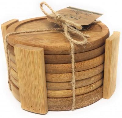 Set de 6 dessous de verre en bambou
