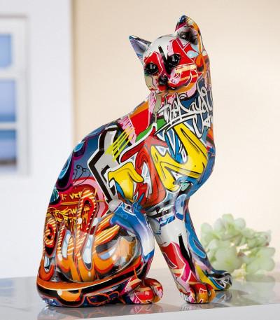 "Statue Chat ""Pop Art"""