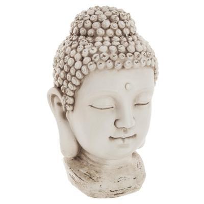Tête de Bouddha en résine, H 26 cm