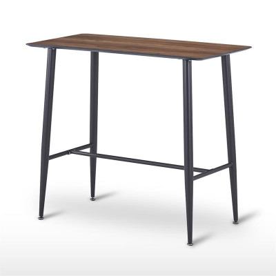 Table Mange-Debout rectangle imitation bois 115 x 60 x 102 cm