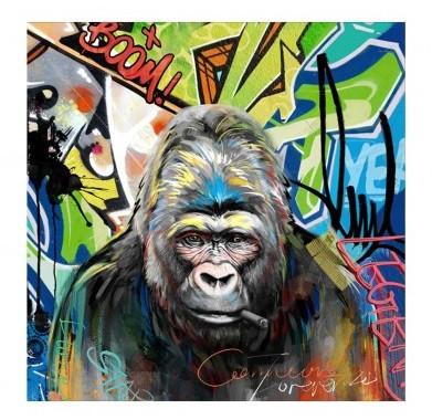 Tableau Gorille GRAFFITI, 100 x 100 cm
