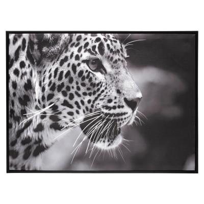 """Toile imprimée """"Léopard"""", 58 x 78 cm"""