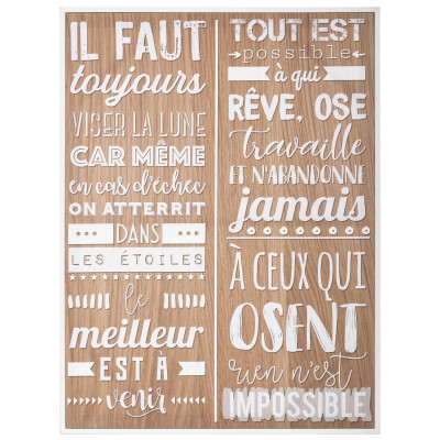 Toile citations 58 x 78