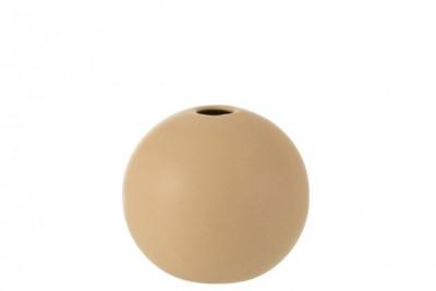 Vase Boule Ceramique Beige